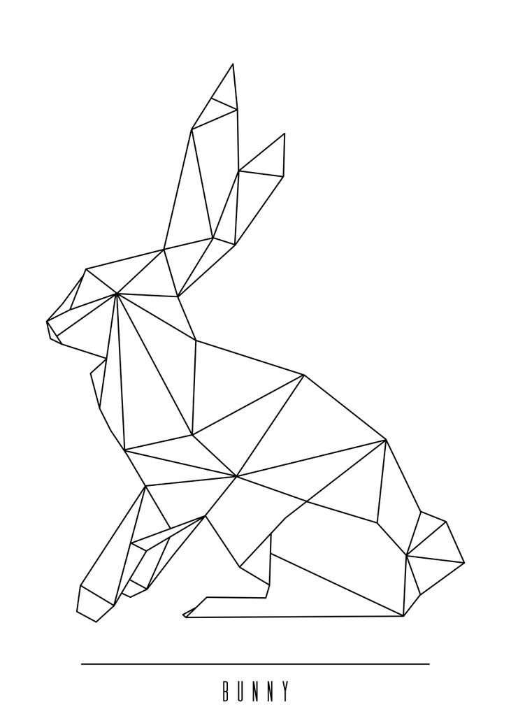Geometric bunny art