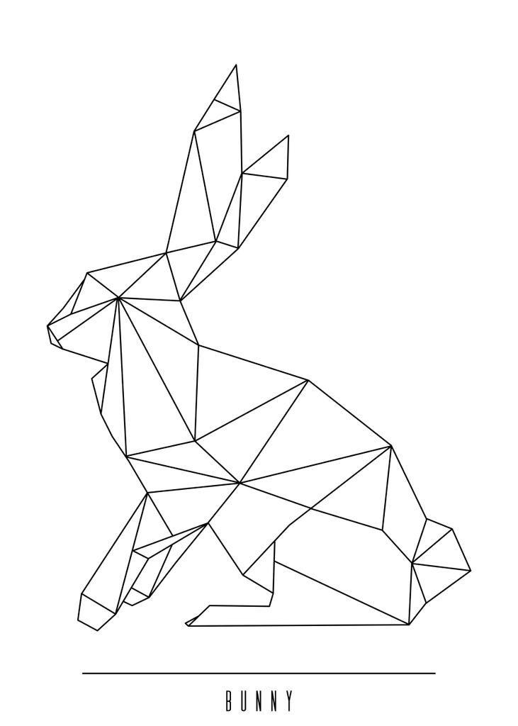 Geometric bunny art