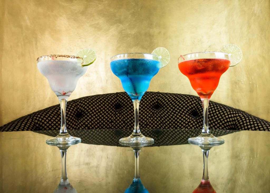 The three cocktails