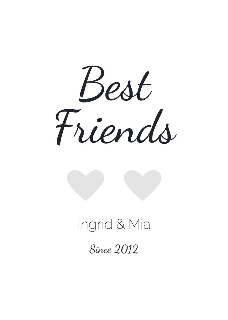 Best Friends (customizable)