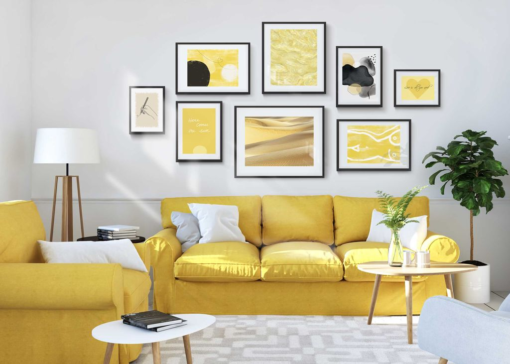 Yellow Living Room Hambedo, Pictures For Living Room