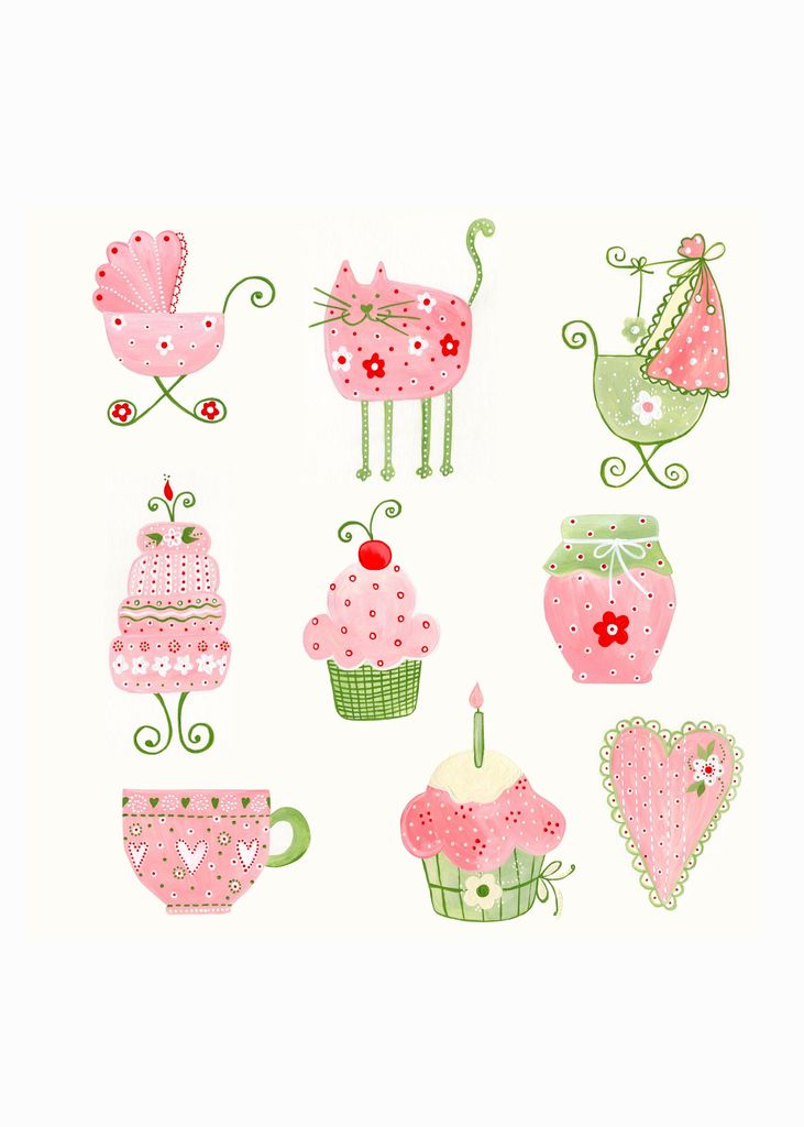 Pink and green litte cute pictures