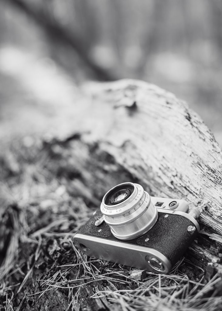 Camera in black and white