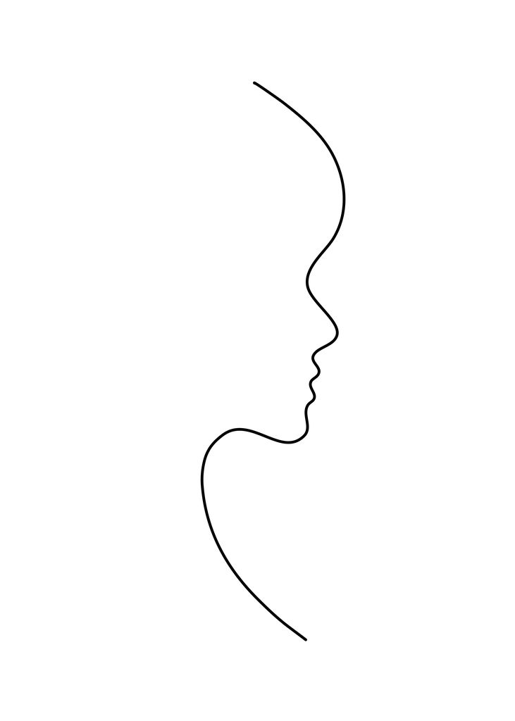 Profile line art