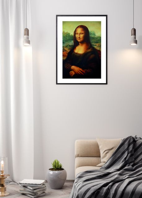 Reproduction of painting Mona Lisa Environment