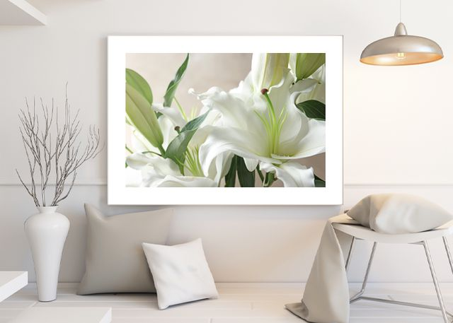 Bouquet with lilies Environment