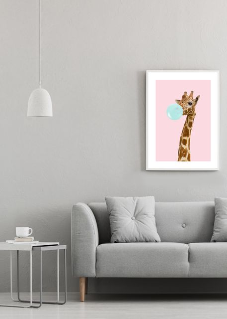 Giraffe with bubble gum Environment