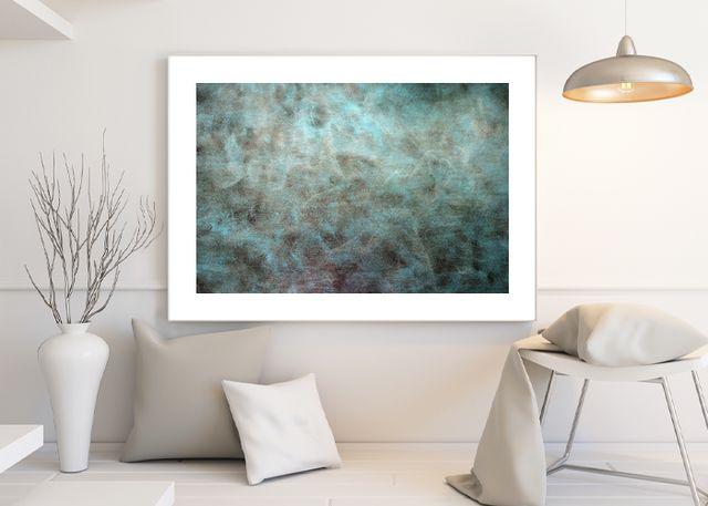 Abstract cyan Environment