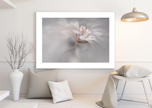 Flower in gray Environment