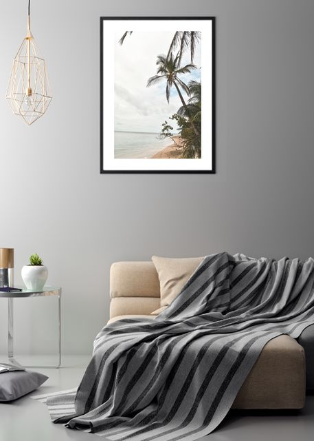 Palm tree on beach Environment