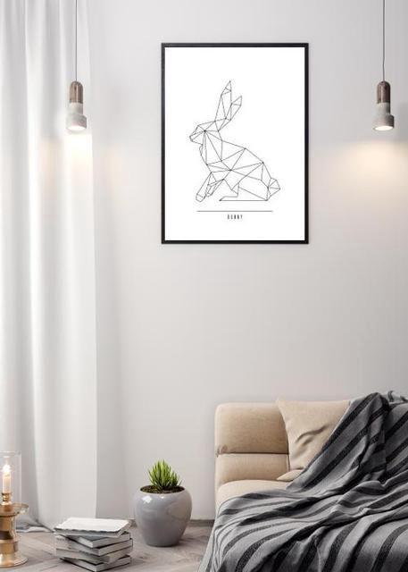 Geometric bunny art Environment