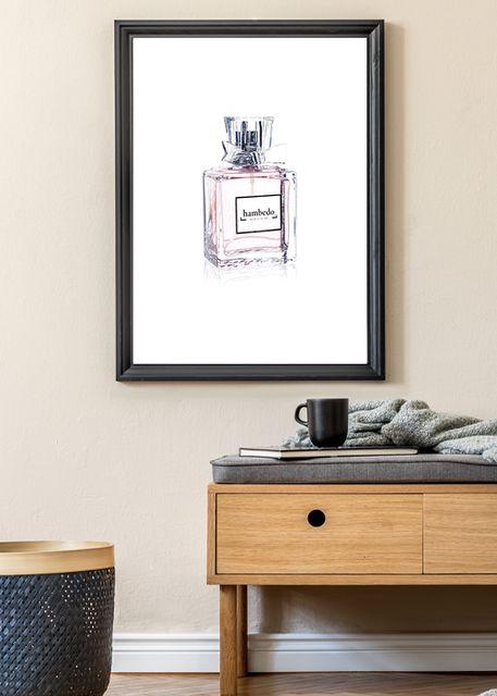Pink perfume bottle Environment