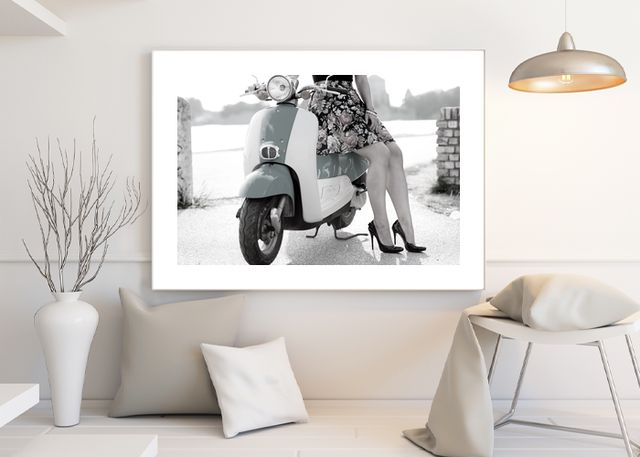 Lady with moped Environment