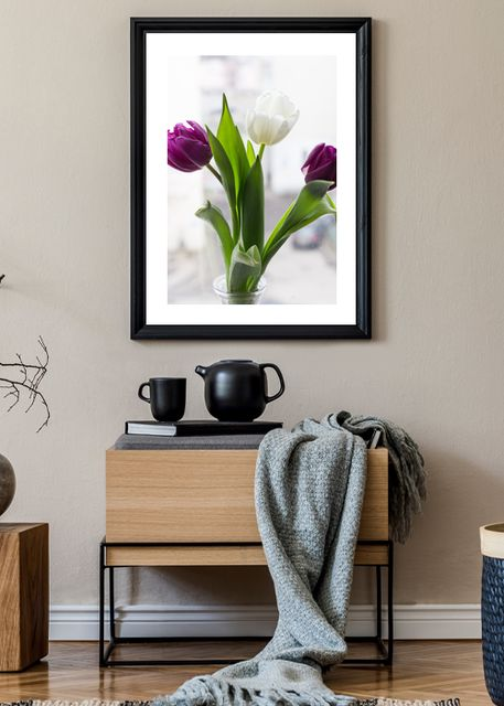 Tulip bouquet in vase Environment