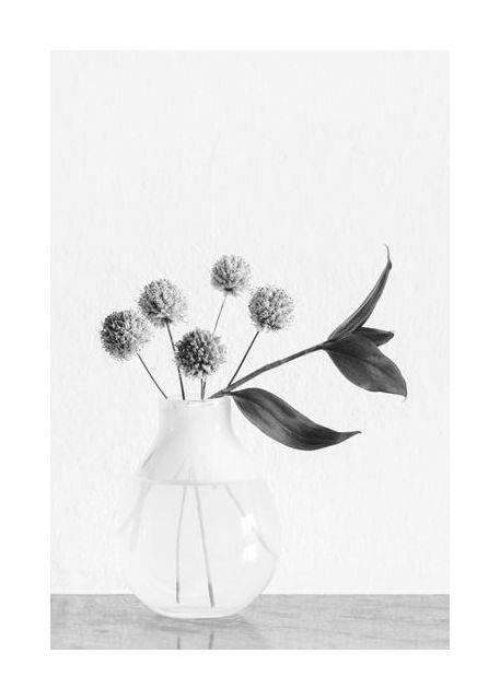 Vase  chives flower