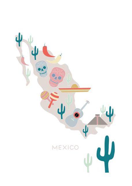 Mexico Map No 1