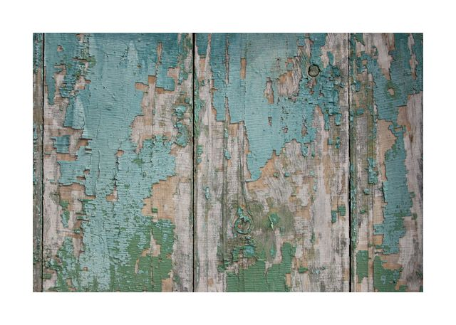 Old paint on wooden planks