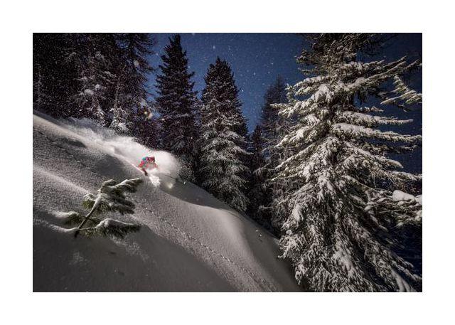 Night Powder turns with Adrien Coirier