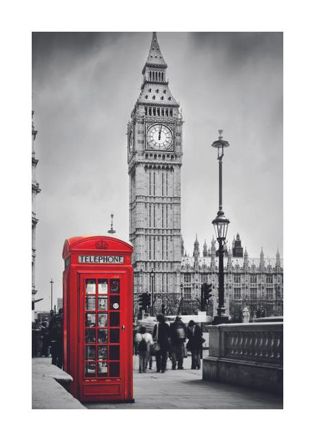 London, Big Ben, vertical