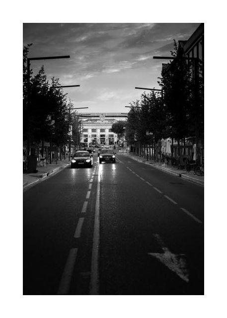 Avignon at dusk