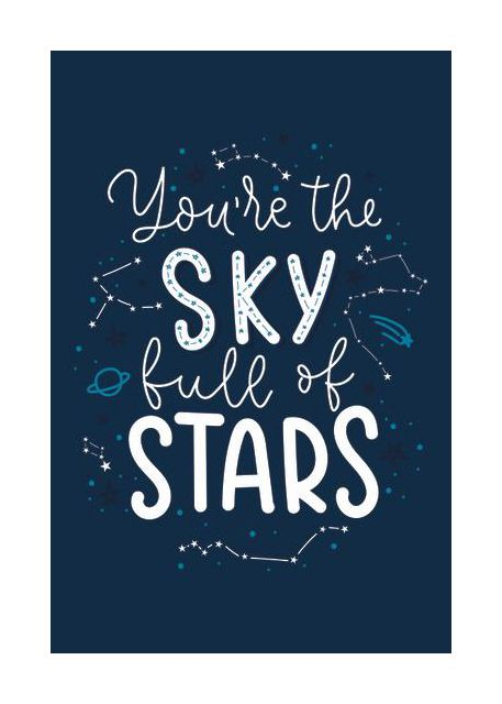 The sky full of stars