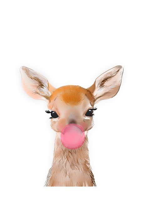 Deer with bubblegum