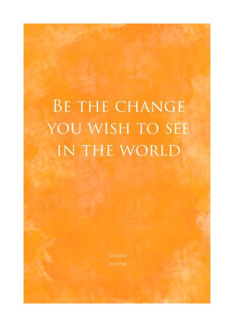 Be the change - yellow