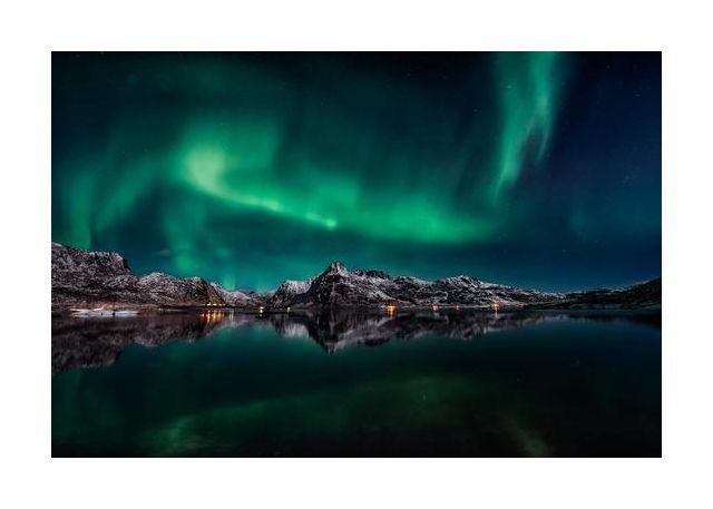 Lofoten Aurora Reflection