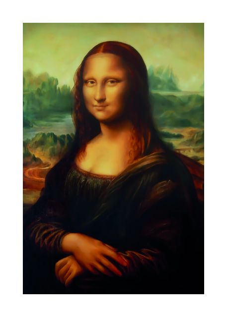 Reproduction of painting Mona Lisa
