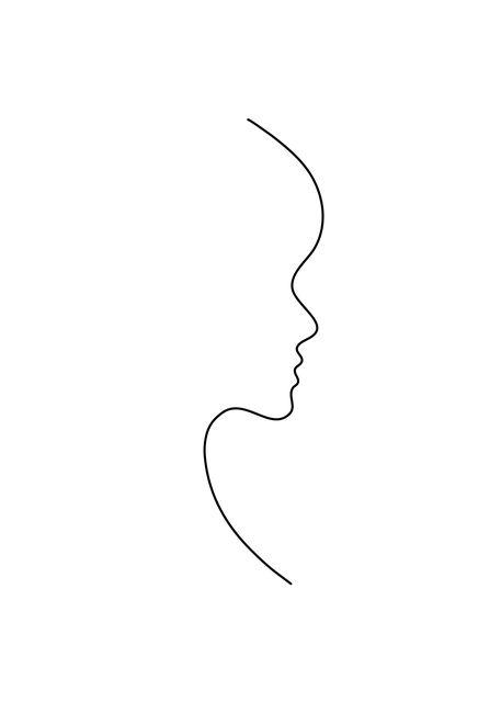 Profile line art