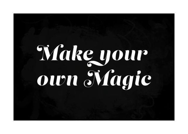 Make your own magic black