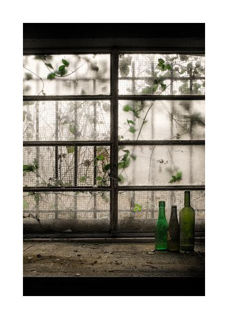 Still-Life with glass bottle
