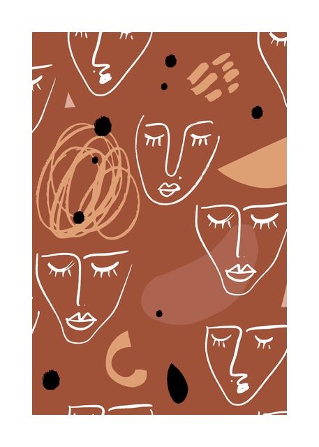 Modern seamless pattern with abstract shapes