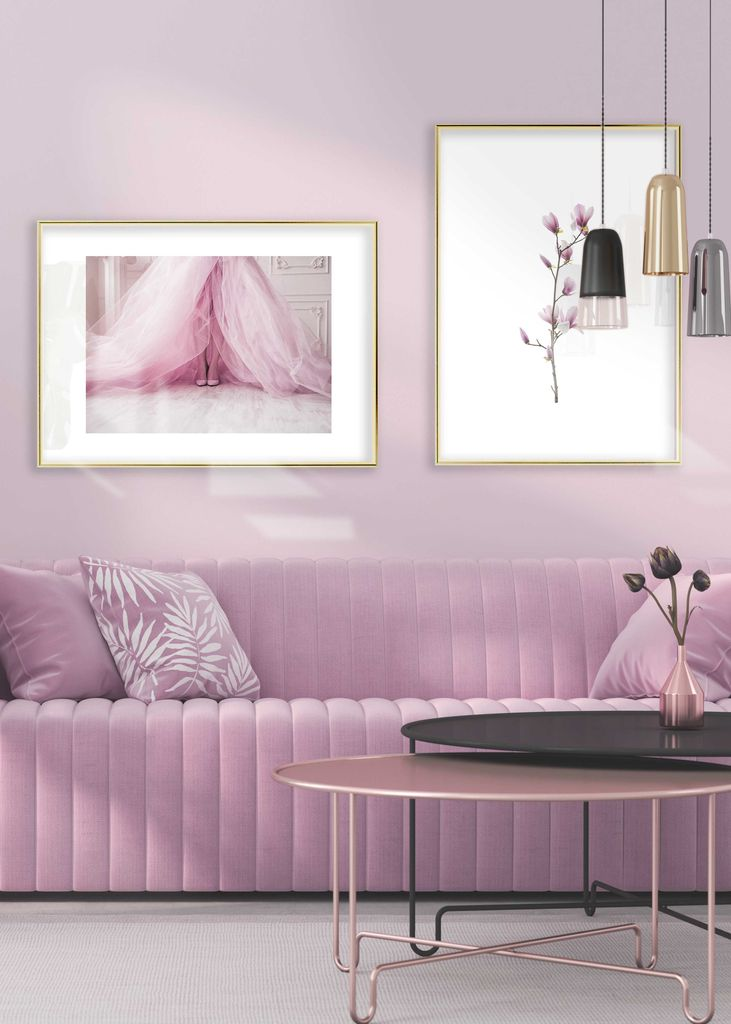 Pink living room 2
