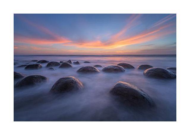 Sunset at Bowling Ball Beach