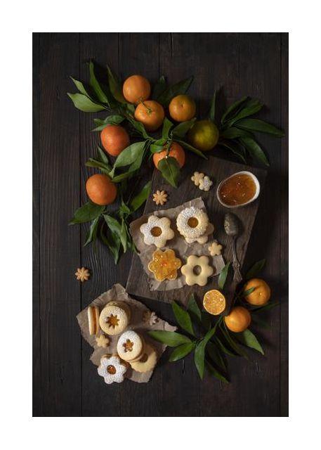 Mandarin Linzer Cookies