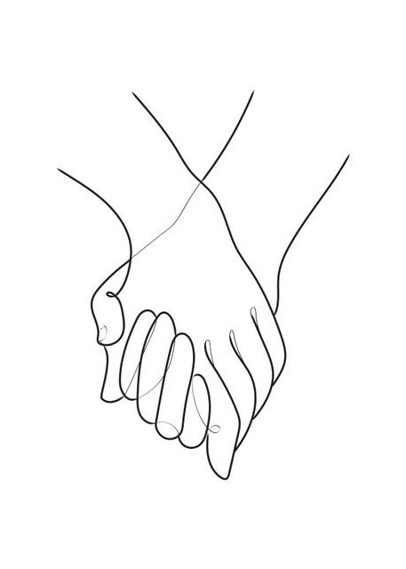 Holding Hands Lines