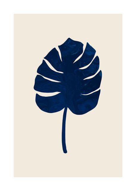 Monstera Marble Blue