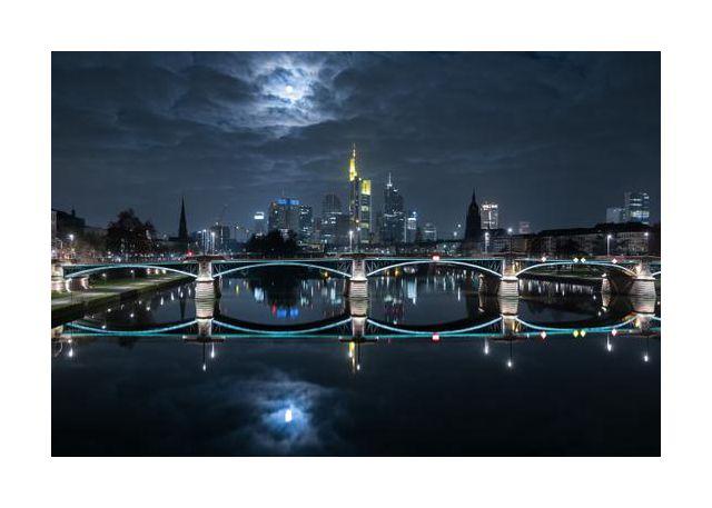 Frankfurt at Full Moon