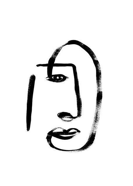 Line Art Portrait 02