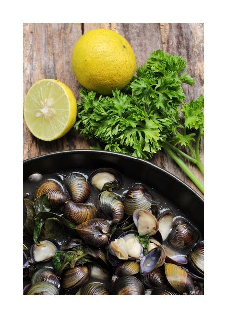 Mussels and lemons