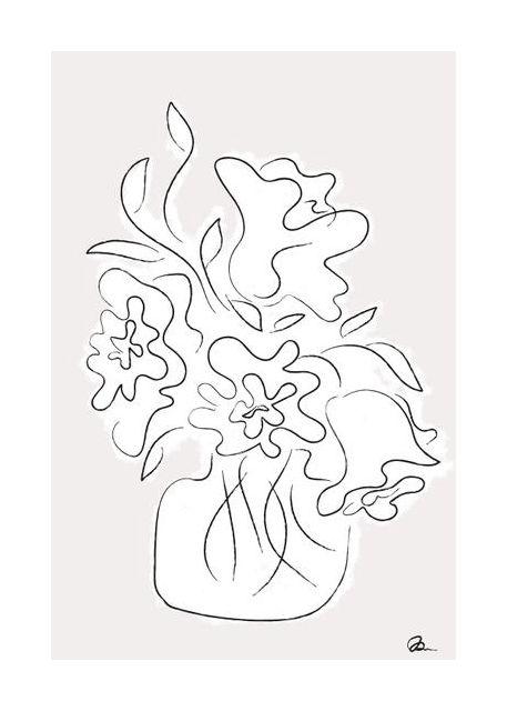 Flower Bouquet Grey