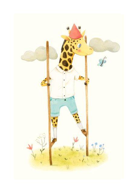Giraffe auf Stelzen