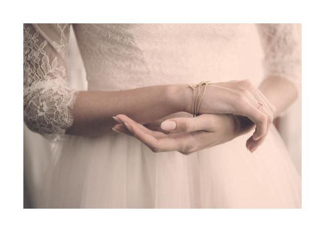 Bracelet, ring and romantic dress
