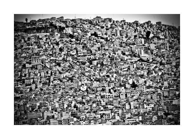 Favela Village in El Alto, La Paz, Bolivia