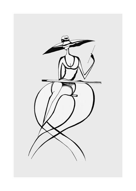 Lady line art