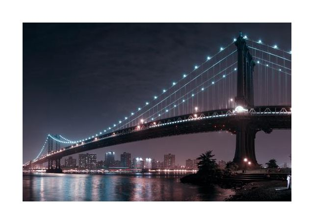 The 2 lovers under Manhattan Bridge