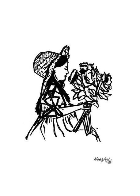 Ragazza con i fiori