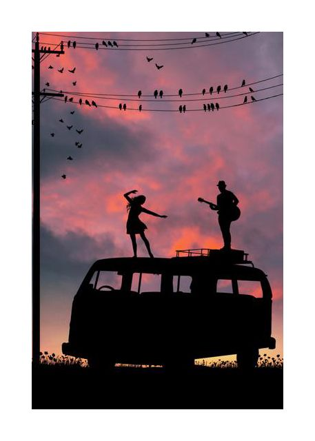 Music sunset