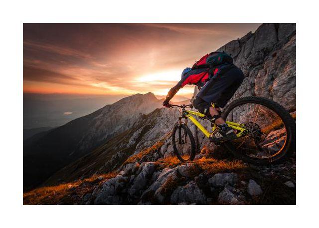 Golden hour high alpine ride